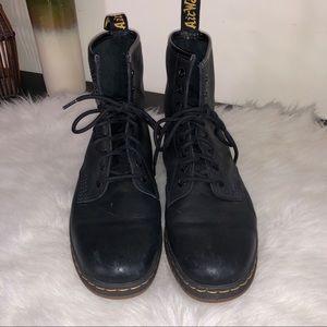Dr. Martens Shoes - DR MARTENS Newton Black Temperley Leather Boots